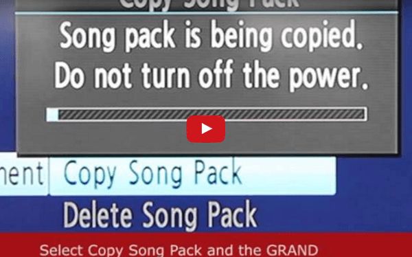 Using a Song Transfer Pack (STP)